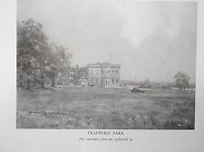 Golf Course TRAFFORD PARK B/W Facsimile Print Of Original 1910 Painting