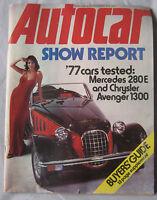 Autocar magazine 30/10/1976 featuring Mercedes road test, Chrysler Avenger