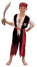 Pirate Boy Jim Boy's Pirate Fancy Dress Costume - Age 4 - 6 Years Small - New