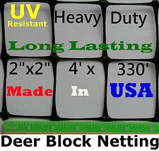 """Deer Fence 4' X 330' UV 2"""" Mesh - Poultry Aviary Dog Deer Block Netting Fence"""