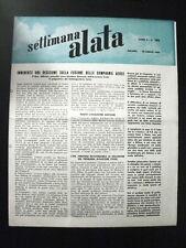 aeronautica- SETTIMANA ALATA n.186 -1957/fusione delle Compagnie aeree