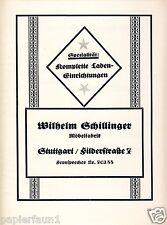 Möbelfabrik Schillinger Stuttgart Reklame 1926 Möbel Ladeneinrichtung Werbung ad