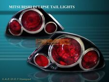 2000-2002 MITSUBISHI ECLIPSE TAIL LIGHTS BLACK G2 01 02