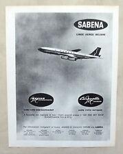 E402-Advertising Pubblicità-1962 - SABENA LINEE AEREE BELGHE