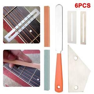 6pcs Guitar Luthier Tool Kit Set Fret Crowning File Rocker Fingerboard Protector