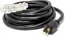 25 ft. 30-Amp 10-Gauge Generator Extension Cord Converts L14-30R To Four 5-20R