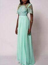 Dress 8 BNWT Virgos Lounge Embellished Mint Wedding Bridesmaids Prom Maxi £130