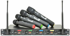 Chord Qu4 4 Quad UHF Wireless Handheld Rack Mount Microphone System Quartet Qu4h