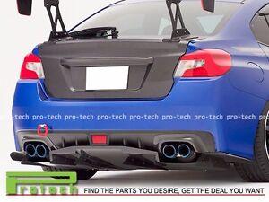 For 2015-2016 Subaru WRX STI VR Type Carbon Fiber Rear Splitter Lip Body Kit