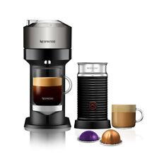 Nespresso Vertuo Next Deluxe Dark Chrome Coffee Machine & Aeroccino3
