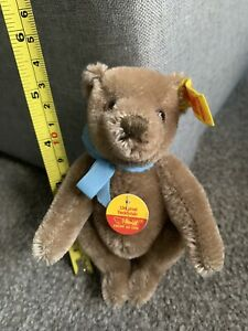 "Original German Steiff Bear #0201/14 Jointed 5"" Caramel Sweet Face Buy Now NR"