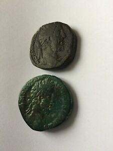 2 monnaie romaine a identifier ( empereur Comod ?