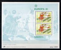 S4244) Madeira 1981 MNH Europa Ms - Mf