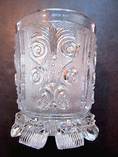 Verre à violettes style Charles X, cristal sculpté Saint LOUIS, modèle Fleurons