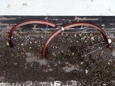 Pair Raleigh bronze steel mudguard set for three speed bike