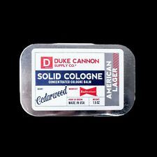 Duke Cannon American Lager Cologne Cedarwood Tin Container Solid Made USA 1.5 oz
