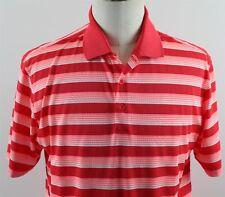 NEW Nike Golf Tech Vent Stripe Dri-Fit Polo Shirt MENS MEDIUM Red White 639710