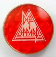 More details for def leppard 'logo triangle'  vintage crystal prismatic badge, rock music , 80's