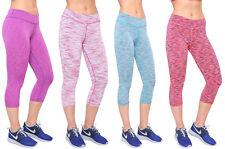 para mujer cintura alta Gimnasio Elástico Yoga Correr 3/4 leggings Fasion Lycra