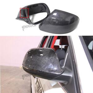 Carbon Fiber Rear Mirror Cover Cap for Audi Q5 Q7 SQ5 with Side Assist 2010-2015