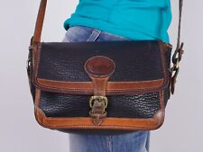 DOONEY BOURKE Small Black Brown Leather Shoulder Hobo Cross Body Purse Bag