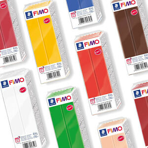 NEW FIMO SOFT 454G POLYMER MODELLING OVEN BAKE CLAY - 10 COLOURS TO CHOOSE FROM