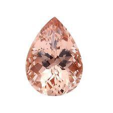 3.62ct 13x8mm Natural Pear Cut Morganite Loose Gemstones
