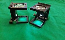Lente Contafili di precisione in metallo con LED ingrandimento 10x, mm40×40mm