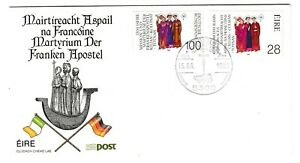 Ireland & Germany 1989 FDC Joint Issue Saints Death Anniversaries