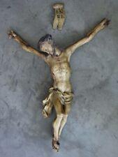 Korpus Christi, Christus, Heiligenfigur aus Holz geschnitzt, gefasst, Barock?