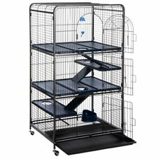 Spacious Cage for Ferrets and Chinchillas - 79 x 52 x 140 cm (L x W x H)