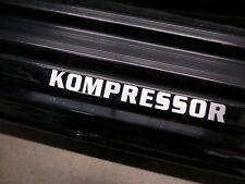 (2pcs) KOMPRESSOR doorstep badge decal Mercedes C/SLK/AMG
