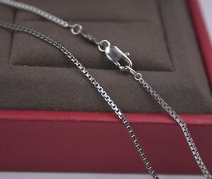 LONG 21.6INCH Pure Platinum 950 Necklace 1mm Box Link Chain Necklace Pt950