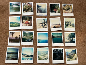Lot Of 20 Nature Ocean Forest Canyon Trees Vintage 1980s-90s Polaroid Photos