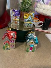 Vintage 4 Metallic Mini Christmas DollHouse Ornaments Light Covers Beautiful Lot