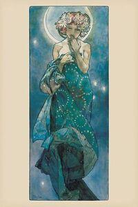 "Alphonse Mucha art poster 24x36"" The Moon"
