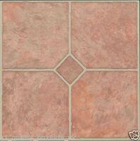 60 x Vinyl Floor Tiles - Self Adhesive - Bathroom Kitchen BNIB Classic Peach 185