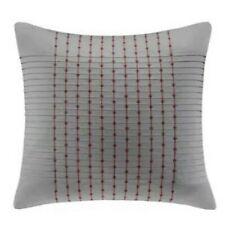 Natori Cherry Blossom Euro Sham Pillow Sham Gray Pleated New in Package