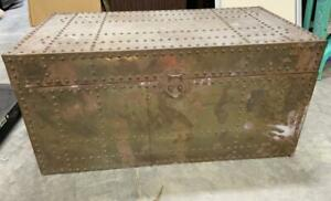 """Brass Chest with Rivets 18"""" x 36"""""""