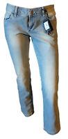Jeans Pantalone Donna Skinny Sbiadito Chiaro Gamba Dritta VARIETY Taglia 44 Slim