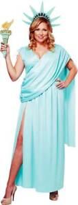 Plus Size Lady Statue Of Liberty Dress Political & Patriotic Costume Adult Women