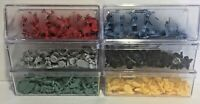 1998 Parker Brothers Risk Replacement Armies Blue Red Gray Black Yellow Green