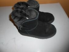 girls ugg boots black US size 3, very good condition
