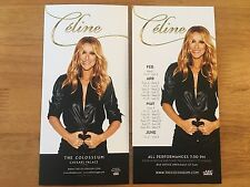 CELINE DION - 2 x LAS VEGAS FLYERS (FEB 2017 TO JUNE 2017)
