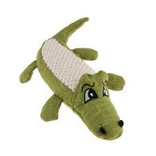 Dog Pet Puppy Sound Chew Squeaker Squeaky Toys Plush Crocodile Toy Green