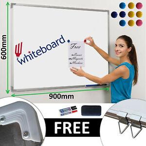 900x600 Magnetic Dry Wipe Whiteboard White Notice Memo Board Home Office School