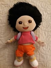 "Gund Dora The Explorer Plush TV 12""  Doll  Viacom 2001 Purple Backpack Orange"