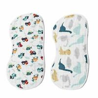 Muslin Burp Cloths Baby Burping Bibs Absorbent Cotton Large Spit Up Dribble Rags