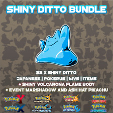 Shiny Ditto Bundle - 6IV - Japanese - Pokemon Ultra Sun - Moon - ORAS