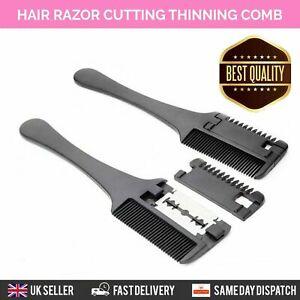 HAIR TRIMMING RAZOR COMB BRUSH GROOMING BLADE TRIM THINNING AND CUTTING HAIR UK